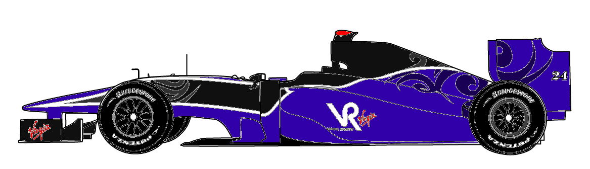 It Wasnt A Straight Red For Blue Swap As The Way Simtek Was Coloured Made More Sense To Put Where Black Is On Virgin