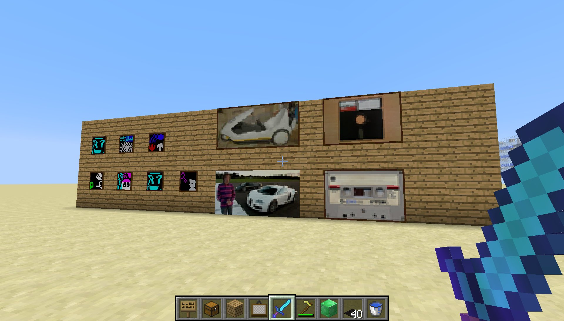 how to get big paintings in minecraft